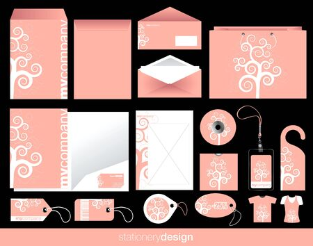 Stationery set design in modern look Vector