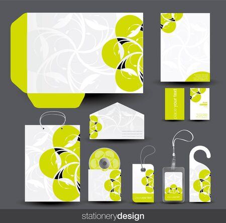 Stationery design set Vector