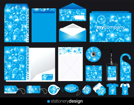 Stationery design set in modern look photo