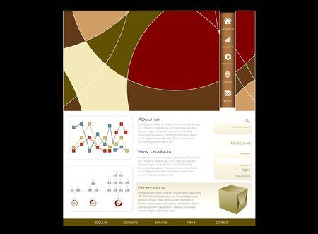 Web design template Stock Photo - 14188830