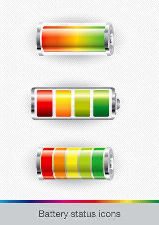 status: illustration of battery status Stock Photo