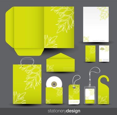 Stationery design set photo