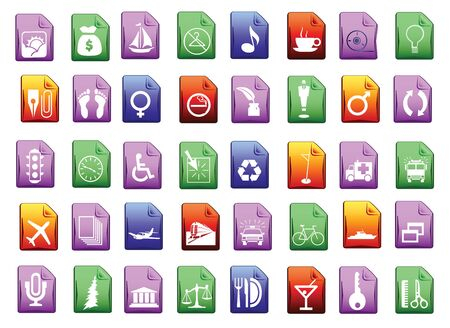 Colored icon set in editable  format Vector
