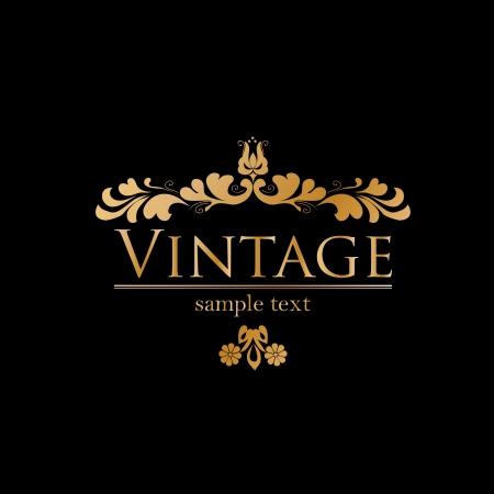 Royal vintage design in editable  format