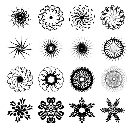 Set of abstract sun concepts in editable vector format Stock Vector - 14297725