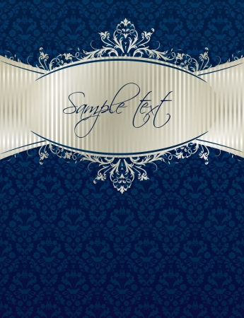 Royal vintage cover in editable format Vector