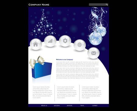 Simple website template in editable format Vector