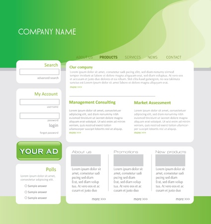 Simple website template in editable format Vector