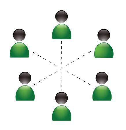 People network concept in editable vector format