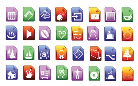 Colored icon set in editable vector format Stock Vector - 14925051