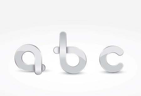 Metalic letter concept in editable vector format Stock Vector - 14925089