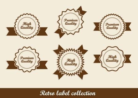 Retro vintage labels in editable vector format Stock Vector - 14925086