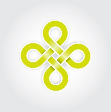 endlos: Grüne ewigem Knoten Konzept in editierbare Vektor-Format