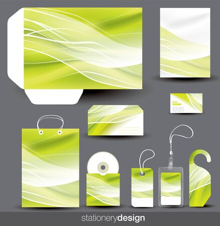 Stationery design set in editable vector format Stock Vector - 14925109