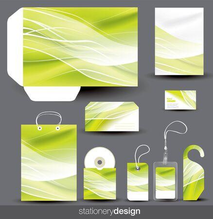 Stationery design set in editable vector format Stock Vector - 14925109