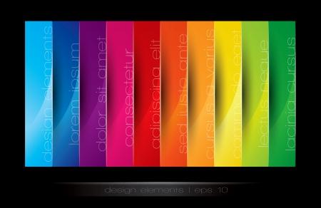 colorful background: Vertical design element in editable vector format Illustration