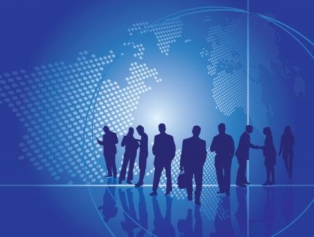 negotiations: Concepto de negocio presentaci�n en formato vectorial editable Vectores