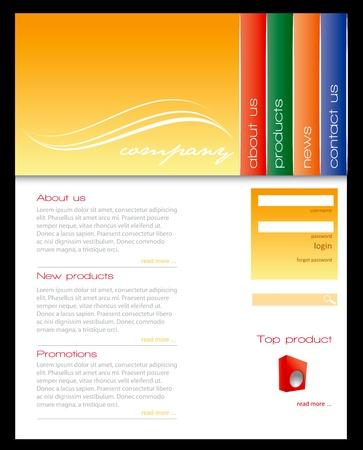 Simple website template in editable vector format Stock Vector - 15116835