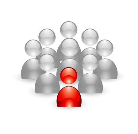 フォーマット: 編集可能な形式での人々 のリーダーシップの概念