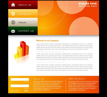 Simple website template in editable  format photo