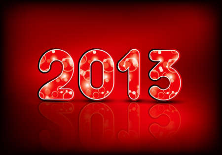 2013 New Year illustration in editable Vector
