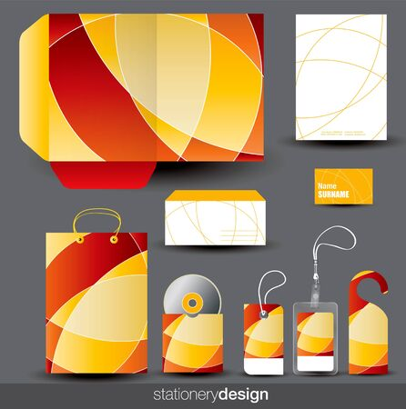 Stationery design set in editable Stock Vector - 15567674