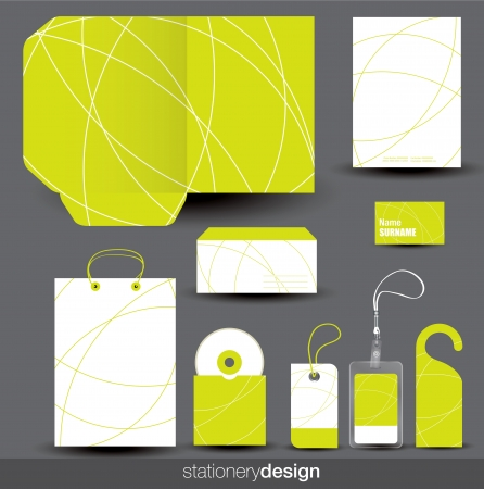 name: Stationery design set in editable vector format Illustration