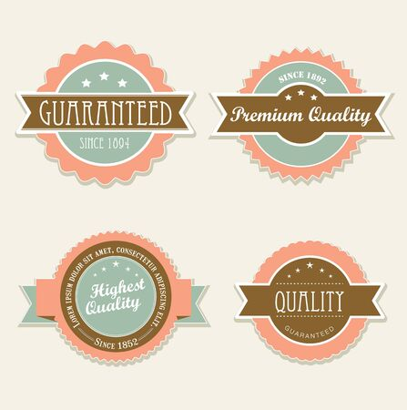 Retro vintage labels in editable vector format Stock Vector - 15597016