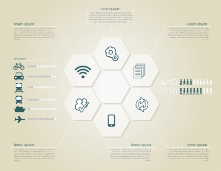 airplane icon: Infographic of transportation concept in editable vector format