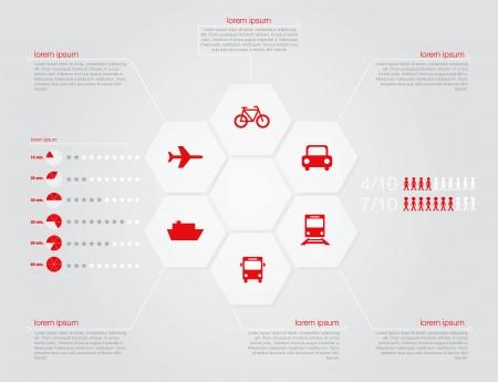 transportation: Infografica del concetto di trasporto in formato vettoriale modificabile Vettoriali