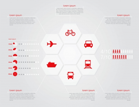 transportation: Infographic of transportation concept in editable vector format