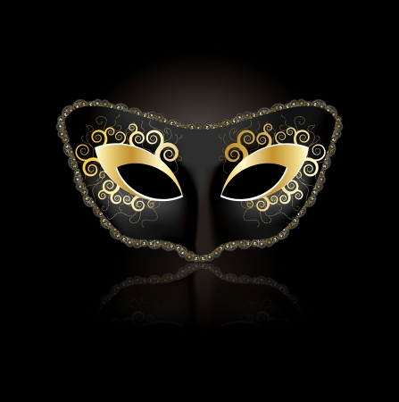 Venetian mask concept for woman in editable format