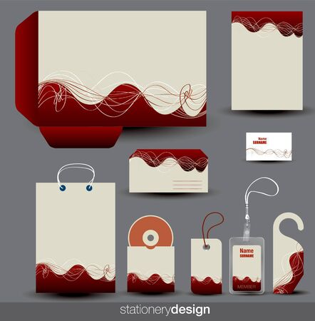 stationery set: Stationery design set