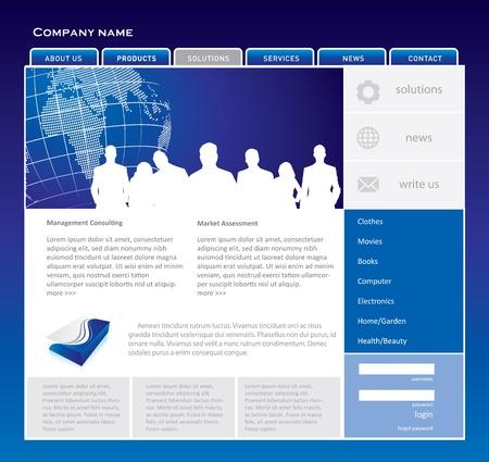 Simple website template Stock Vector - 15763990