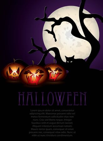 Halloween night illustration Stock Vector - 15967816