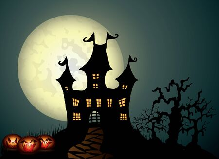 Halloween night illustration Vector