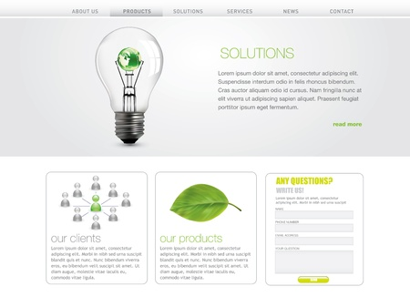 website: Professional website template