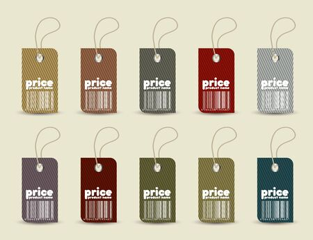 Price tag with retro pattern Vector