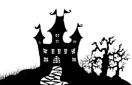 Halloween night illustration Illustration