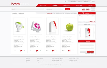 webshop: Professional website template