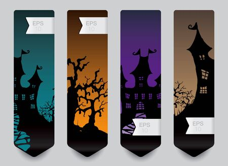 Vertical banner concept for Halloween Vector