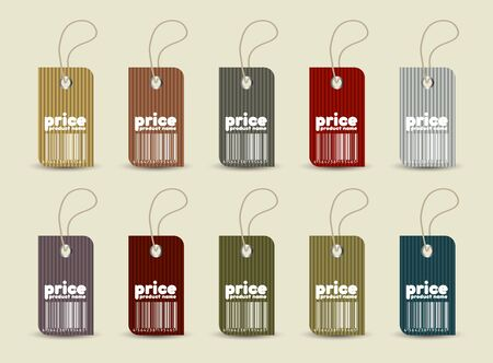 Price tag with retro pattern in editable vector format Vector