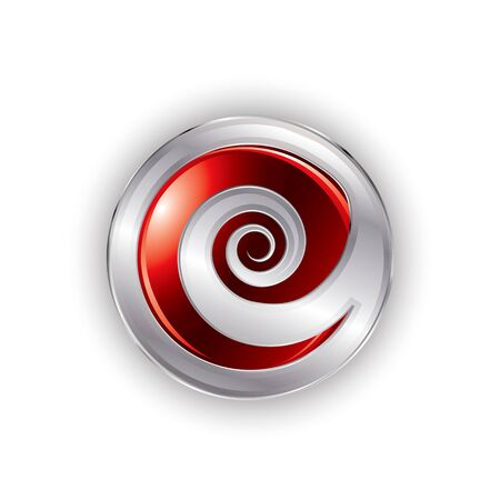 Abstract spiral button in editable vector format Vector