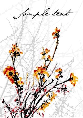 Decorative tree concept in editable vector format Vector