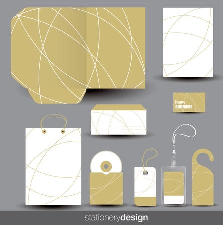 business bags: Stationery design set in editable vector format Illustration