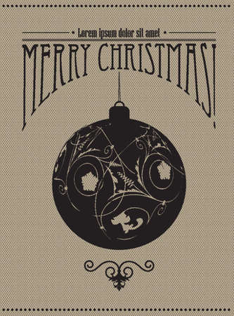 Vintage Christmas greeting in editable vector format Stock Vector - 16184977