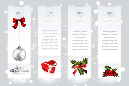 Vertical banners with Christmas elements in editable vector format Vector