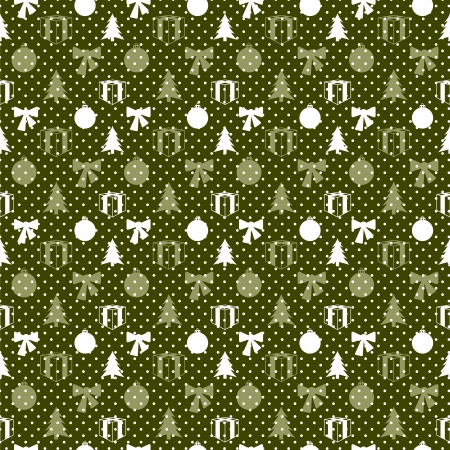 Retro Christmas pattern in editable vector format Vector