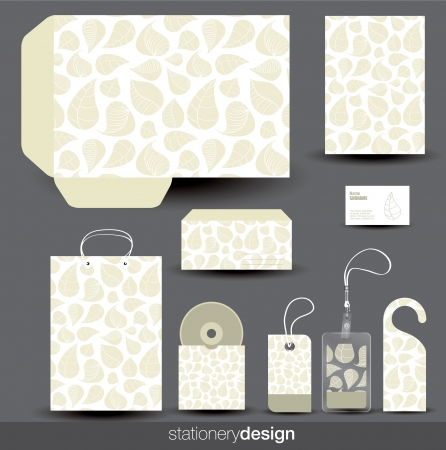 Stationery design set in editable vector format Vector