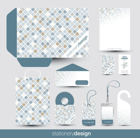 Stationery design set in editable vector format Stock Vector - 16185017